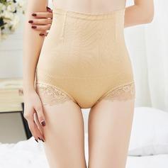 Women Feminine/Charming Chinlon/Nylon Breathability High Waist Panties/Waist Cinchers With Lace Shapewear