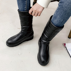 Women's PU Low Heel Snow Boots shoes