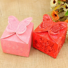 Butterfly Theme Cuboid Favor Boxes  (114024111)