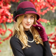 Ladies' Fashion Wool With Bowknot Bowler/Cloche Hat