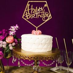 Estilo clásico/Feliz Cumpleaños Acrílico Decoración de tortas