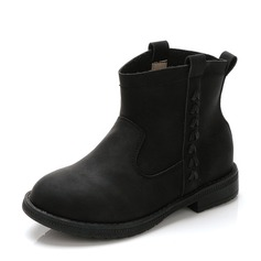 Girl's Real Leather Flat Heel Closed Toe Ankle Boots Boots