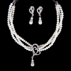 Simple Faux Pearl Ladies' Jewelry Sets