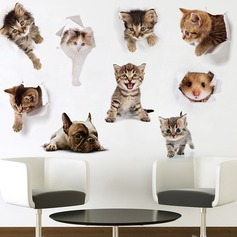 Cartoon Animal PVC Wall Sticker (Set of 9) (203168029)