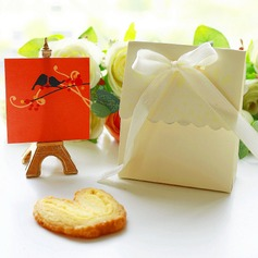 """""""Sweet Love""""/""""Happy Time"""" Card Paper With Ribbons"""