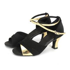 Femmes Similicuir Sandales Latin avec Ouvertes Chaussures de danse