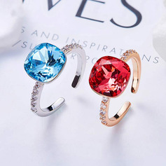 Dames Magnifique Cristal/Cuivre Cristal Bagues elle/Amis/la mariée/Pour Elle