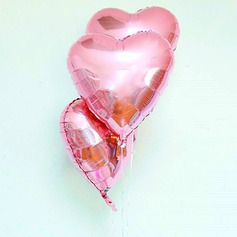 10pcs - 10inch Pink Heart Shaped Balloons (set of 10)