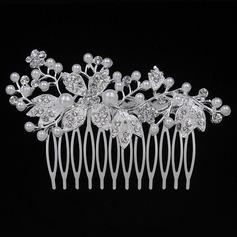 Elegant Legering/Metal Kamme & Hårspænder (Sælges i et enkelt stykke) (042093406)