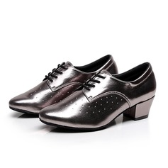 Women's Leatherette Pumps Swing Practice With Lace-up Dance Shoes