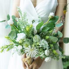 Flickaktigt Konstgjorda Blommor Brud Buketter (predávaný v jednom kuse) -