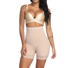 Women Classic/Charming Chinlon/Nylon Breathability/Moisture Permeability/Butt Lift High Waist Waist Cinchers/Shorts With Lace/Printing Shapewear