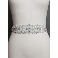 Stylish Satin Sash With Rhinestones/Imitation Pearls (015072046)