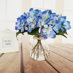 Romântico Mão-amarrado Seda artificiais Buquês de noiva/Buquês da nama de honra/Flores da Tabela do Casamento -