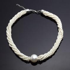 Klassische Legierung mit Perle Der damen Halsketten