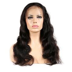 Indisk Kroppsvåg Mänskligt hår Mänskligt hår Lace Front Parykar