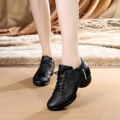 Women's Real Leather Sneakers Jazz Dance Shoes