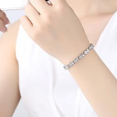 Simple Alloy/Zircon Ladies' Bracelets