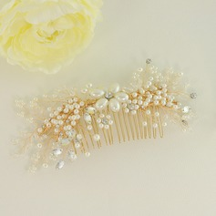 Lovely Alloy Combs & Barrettes With Venetian Pearl (Sold in single piece) (042163445)