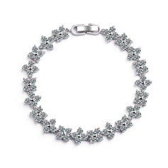 Shining Zircon/Platinum Plated Ladies' Bracelets
