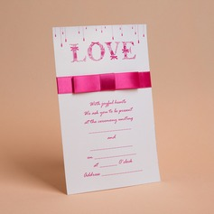 Classic Style Flat Card Invitation Cards With Bows/Ribbons  (114030719)