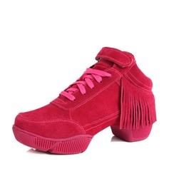 Vrouwen Suede Dans Sneakers Dans Sneakers met Tassel Dansschoenen