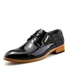 Men's Patent Leather Lace-up Dress Shoes Men's Oxfords