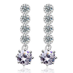 Shining Copper/Platinum Plated/Cubic Zirconia Ladies' Earrings
