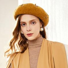 Ladies ' Enkle/Iøjnefaldende/Charmen Uld/Akryl Baret Hat