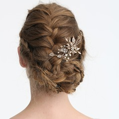 Ladies Gorgeous Rhinestone/Alloy/Imitation Pearls Hairpins With Rhinestone/Venetian Pearl (Sold in single piece)