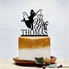 Individualisiert Klassik Paar/Süße Liebe Acryl Torten-Dekoration