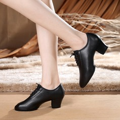 Women's Real Leather Heels Latin Modern Jazz Dance Shoes