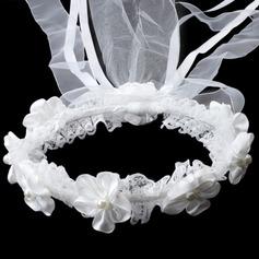 Precioso Rhinestone/Perlas de imitación/Encaje La muchacha de flor celada