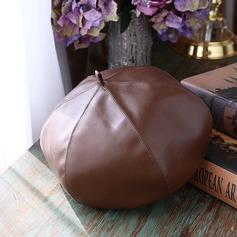 Damer' Enkel/konstnärligt Pu Basker Hat