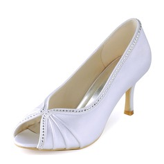 Women's Plastics Stiletto Heel Peep Toe Platform With Applique