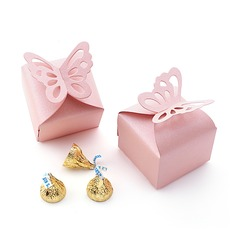 Butterfly Top Cubic Pearl Paper Favor Boxes (Set of 12)