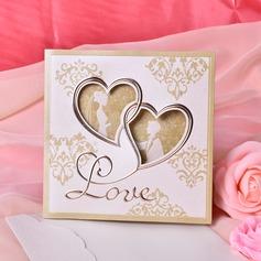 Heart Style Tri-Fold Invitation Cards (Set of 50)