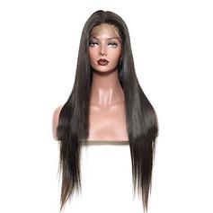4A Ej remy Straight Mänskligt hår Full Lace Parykar