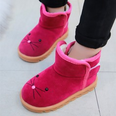 Girl's Closed Toe Snow Boots Suede Flats