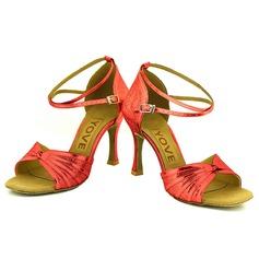 Femmes Pailletes scintillantes Talons Sandales Latin avec Lanière de cheville Ouvertes Chaussures de danse