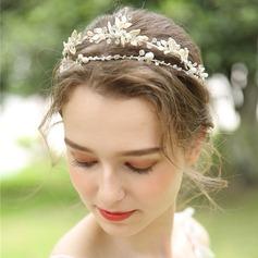 Filles Beau Cristal/Strass/Alliage/Perles Tiaras avec Strass/Cristal (Vendu dans une seule pièce)