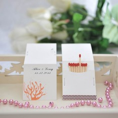 Personalized Coral Design Hard Card Paper Matchboxes (Set of 50)