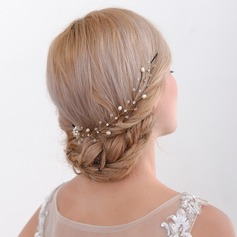 Dame Romantisk Legering Kamme & Hårspænder med Venetiansk Perle (Sælges i et enkelt stykke)