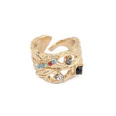 Exotisk Legering med Strass Damer' Mode Ringar
