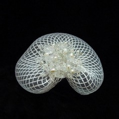 Lovely Net Yarn Fascinators With Venetian Pearl