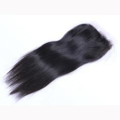 """4""""*4"""" 5A Tout droit les cheveux humains Fermeture (Vendu en une seule pièce)"""