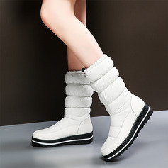 Women's Fabric Low Heel Boots Mid-Calf Boots shoes