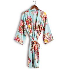 Charmeuse Bride Bridesmaid Mom Floral Robes (248155097)