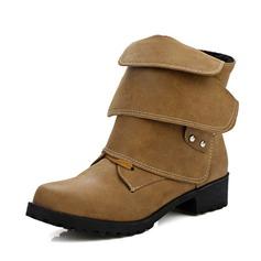 Femmes PU Talon bas Chaussures plates Bottines avec Boucle Autres chaussures