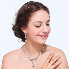 Hottest Alloy With Rhinestone Ladies' Jewelry Sets